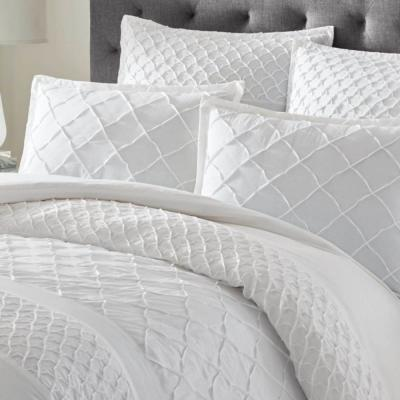Mosaic White Duvet Cover Set