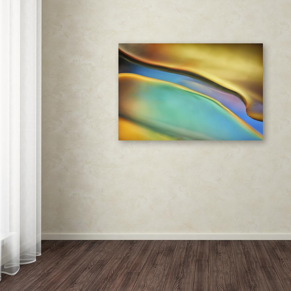 Trademark Fine Art 12 in. x 19 in. ''Yellow and Aqua