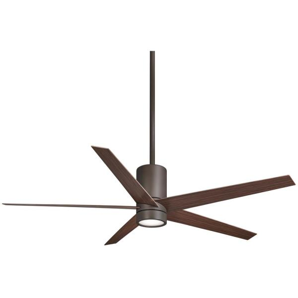 Symbio 56 in. Integrated LED Indoor Oil Rubbed Bronze Ceiling Fan with Light with Remote Control