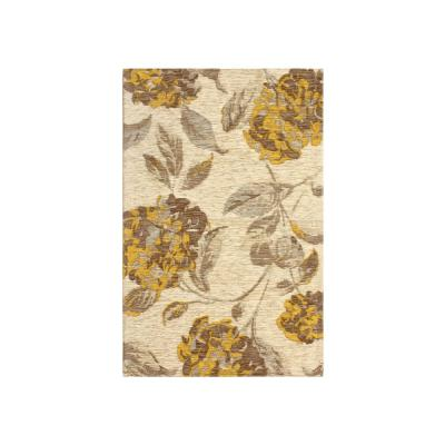 Hydrangea Chamomile Jacquard Chenille 2 ft. x 3 ft. Textured Area Rug