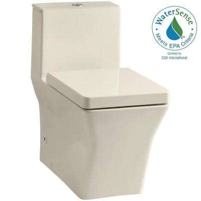 Reve 1-Piece 0.8 or 1.6 GPF Dual Flush Elongated Toilet in Almond