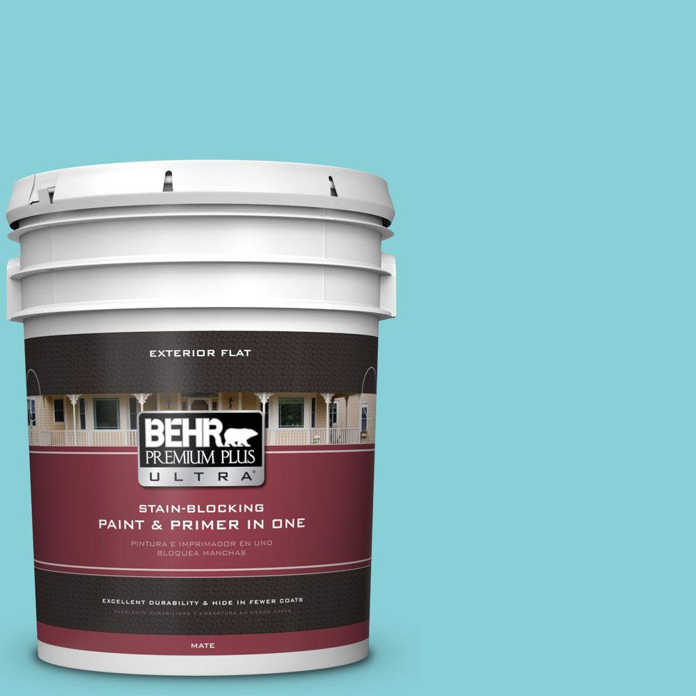 BEHR Premium Plus Ultra Home Decorators Collection 5-gal. #HDC-MD-14 Sky Watch Flat Exterior Paint
