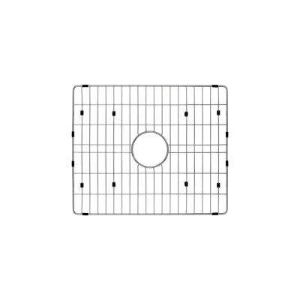 Single Bowl Radius Kitchen Sink Grid in Brushed Stainless Steel