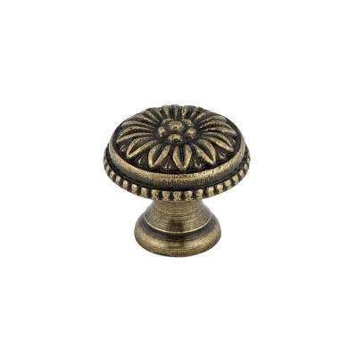 Traditional 31/32 in. (25 mm) Antique English Round Cabinet Knob