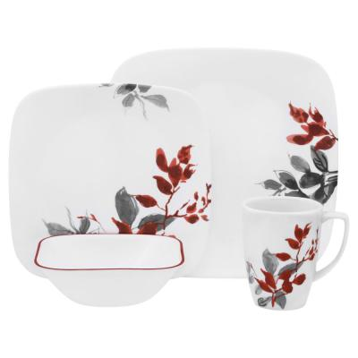 Boutique 16-Piece Kyoto Leaves Dinnerware Set