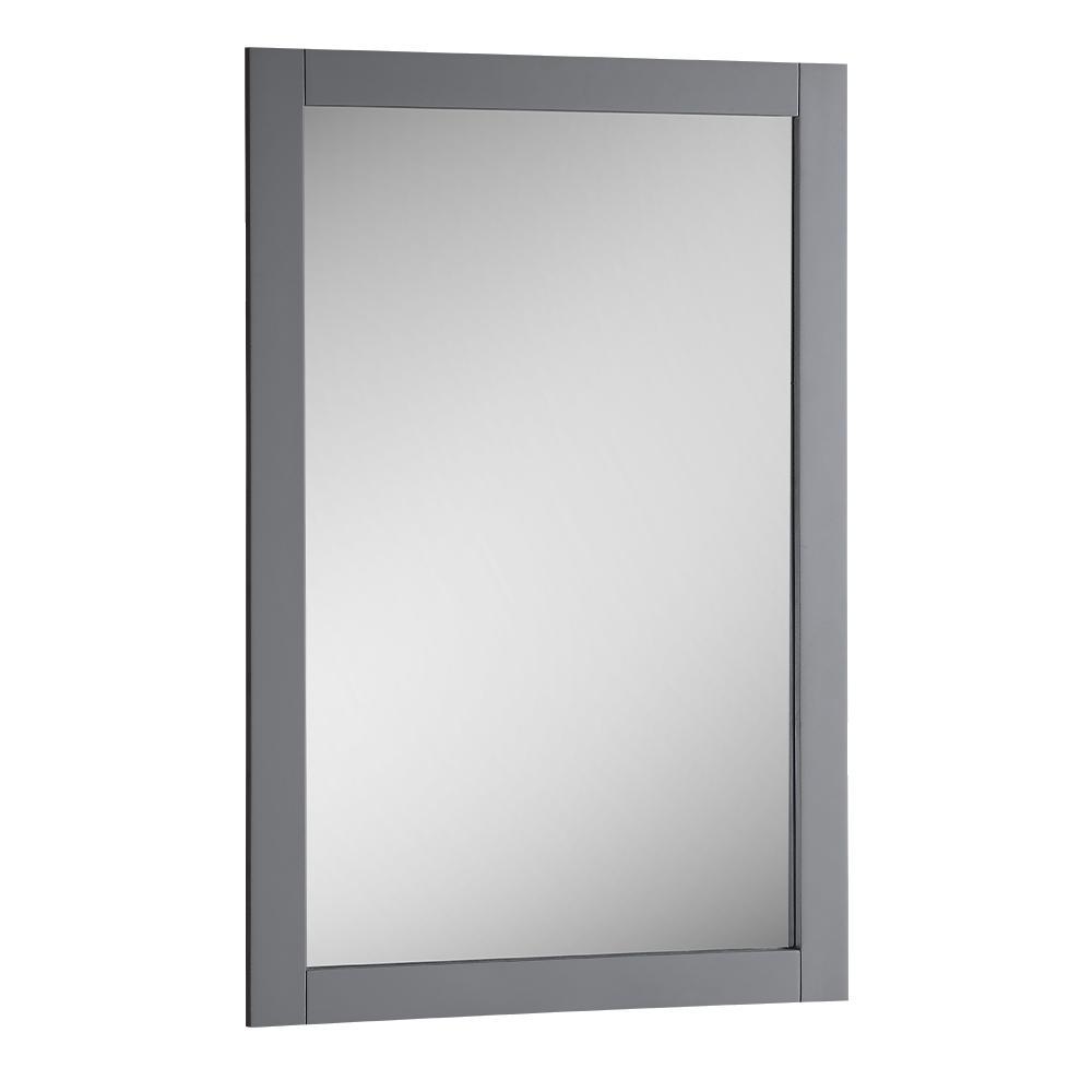 Bradford 20 in. W x 30 in. H Framed Wall Mirror in Gray