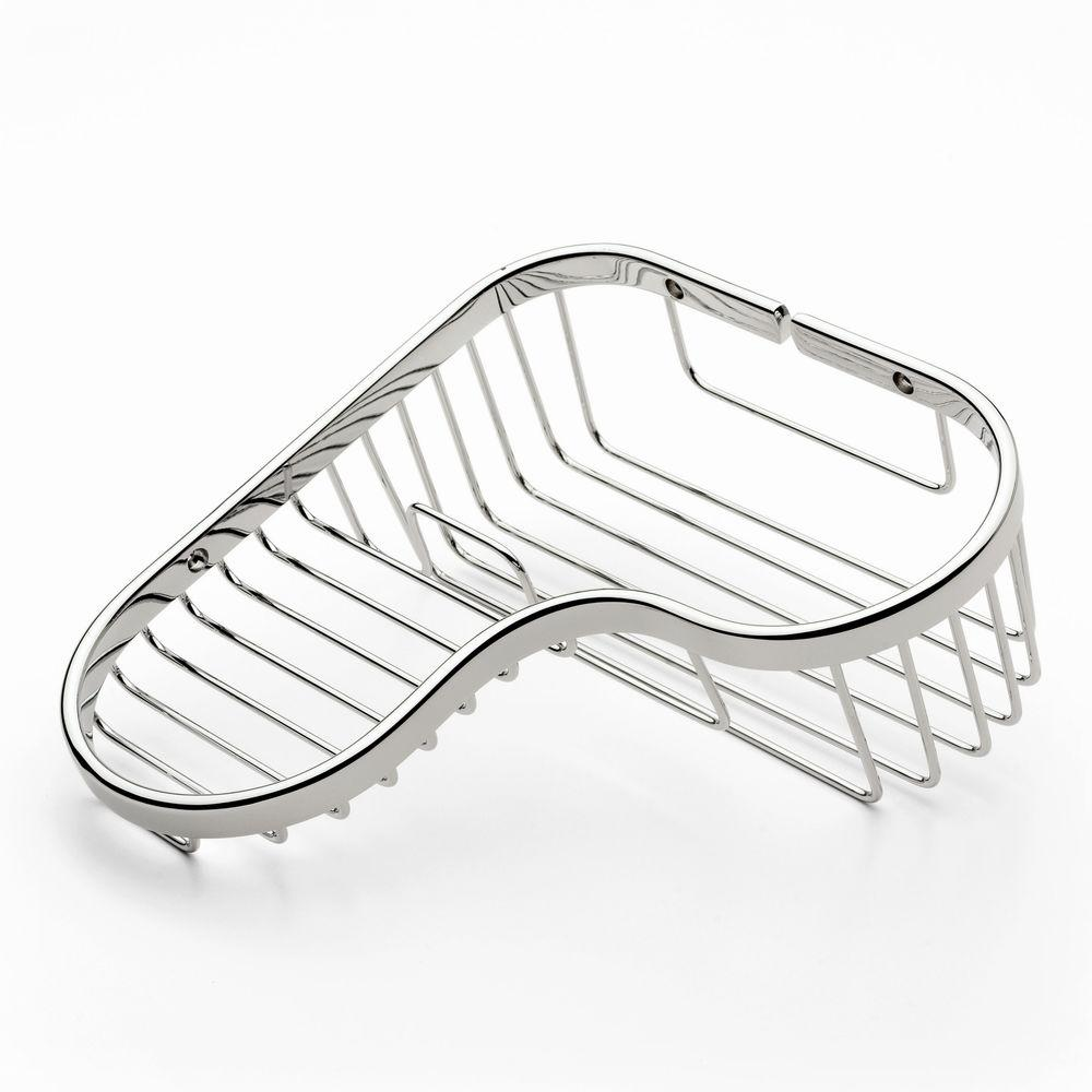 Ginger Splashables Large Combo Corner Basket in Polished Chrome