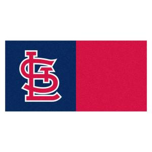 Fanmats Mlb St Louis Cardinals Navy Blue And Red Nylon