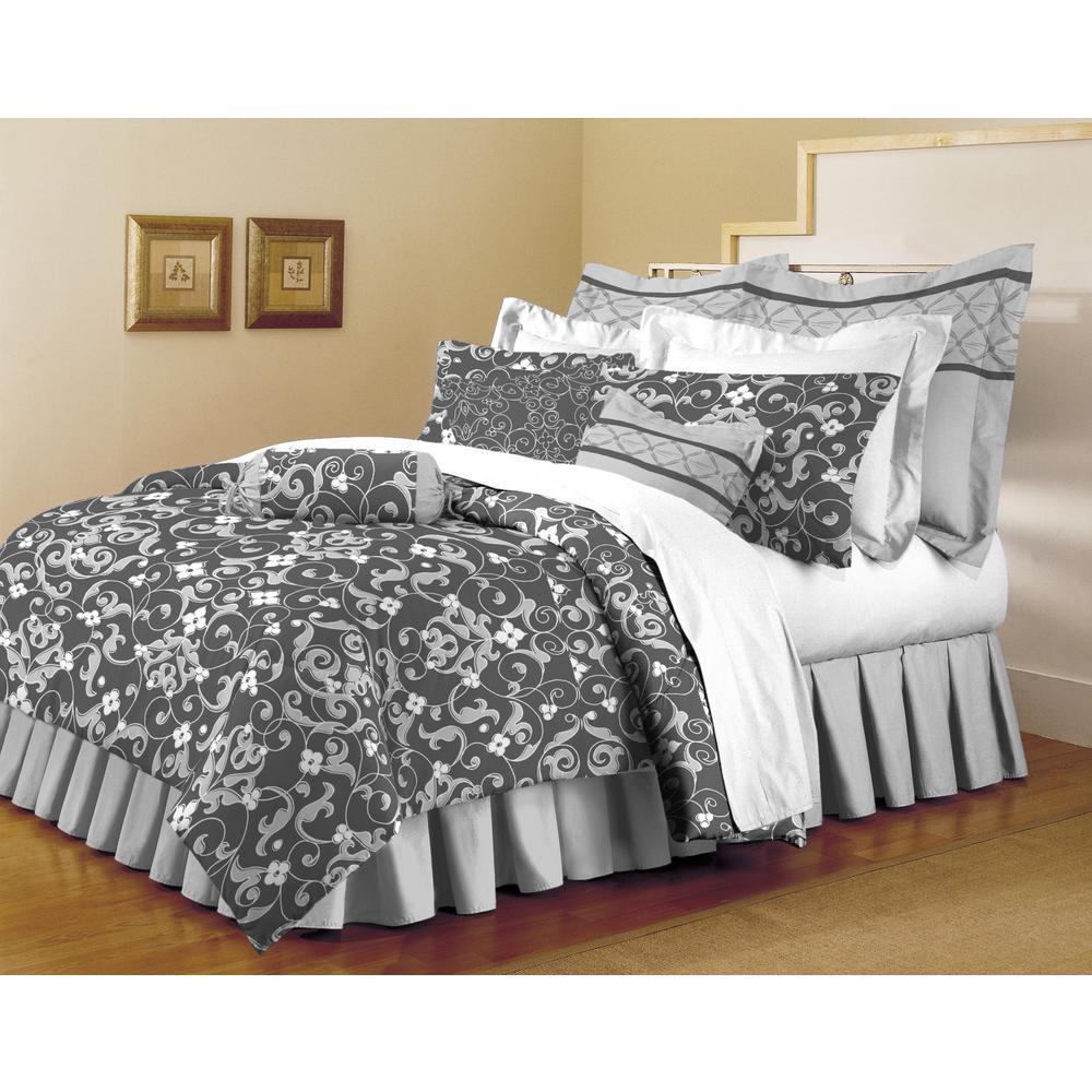 Classic Trends Gray 5-Piece Full/Queen Comforter Set