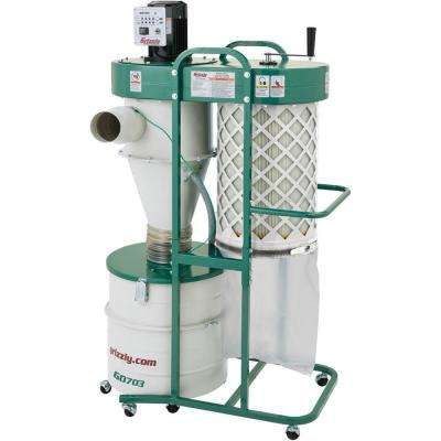 1-1/2 HP 2-Stage Cyclone Dust Collector