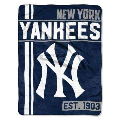 yankees Multi Color Polyester Walk off Micro Blanket