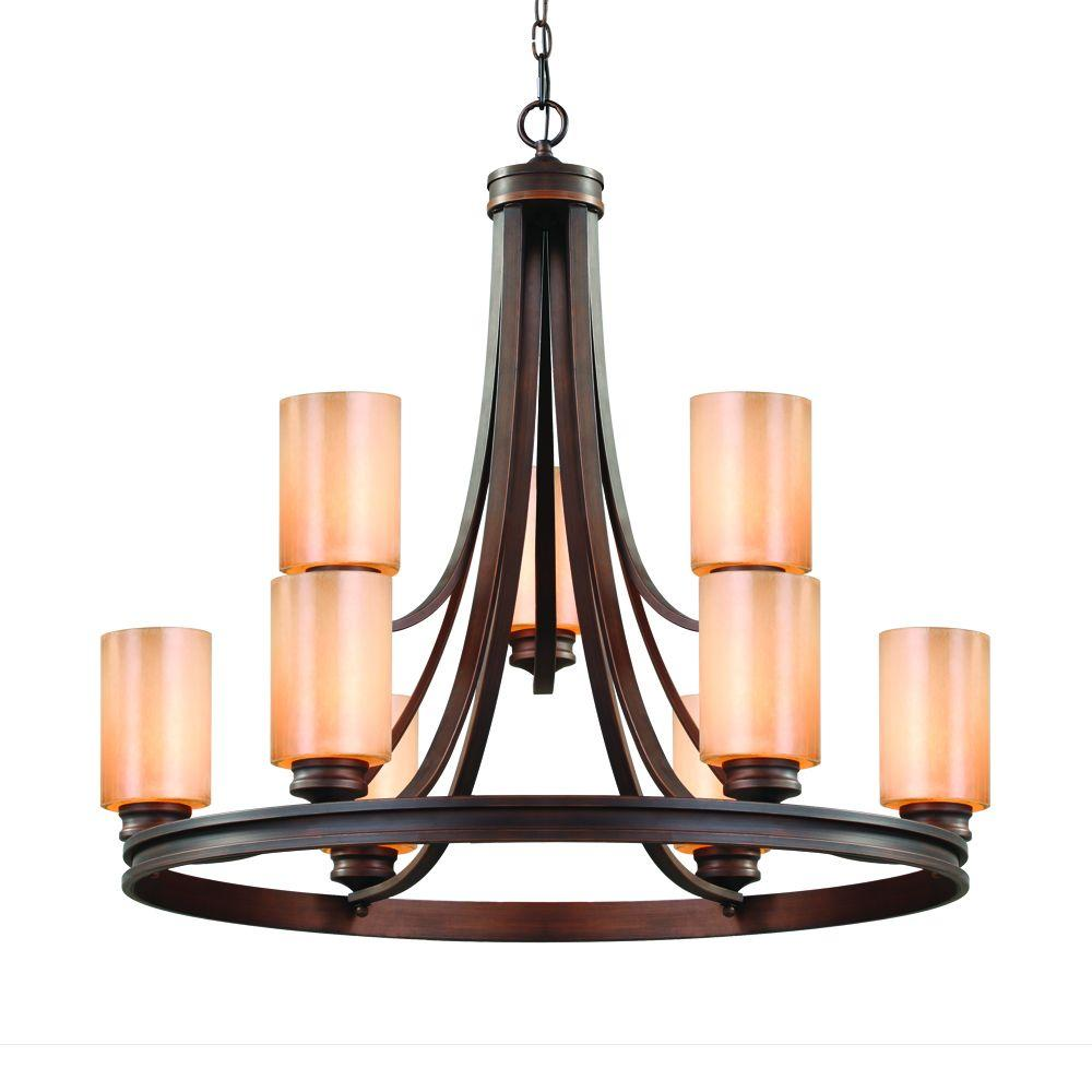 Holborn Collection 9-Light Sovereign Bronze 2-Tier Chandelier