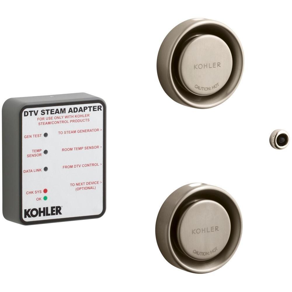KOHLER Dual Steam Adapter Kit for DTV in Vibrant Brushed Bronze
