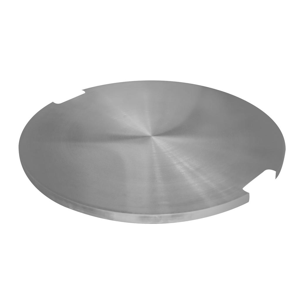 Round Stainless Steel Outdoor Fire Pit Table Cover
