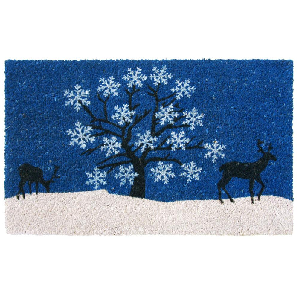 Rubber Cal Blue Sky 18 In. X 30 In. Holiday Door Mat
