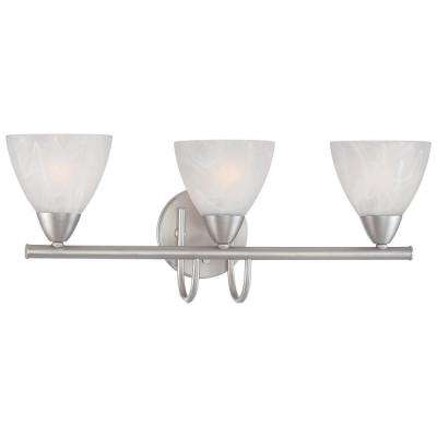 Tia 3-Light Matte Nickel Bath Fixture