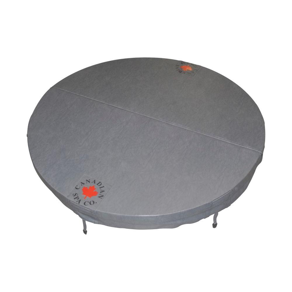 Canadian Spa Company 78 in. Round Hot Tub Cover with 5 in./3 in. Taper - Charcoal