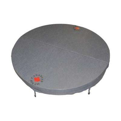 80 in. Round Hot Tub Cover with 5 in./3 in. Taper - Charcoal