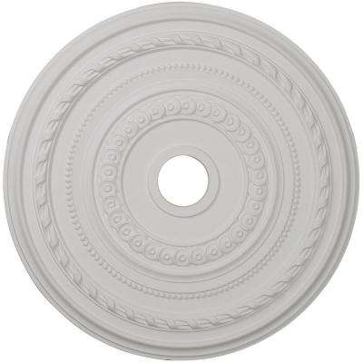 25-3/8 in. OD x 3-3/8 in. ID x 1-3/8 in. P (Fits Canopies up to 9-1/8 in.) Cole Polyurethane Ceiling Medallion