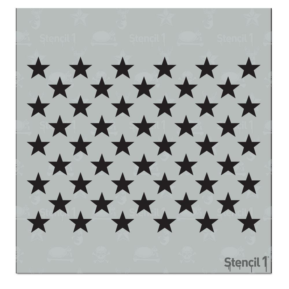 Stencil1 50 Stars Small Stencil-S1_01_308_S - The Home Depot
