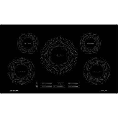 36 in. Induction Cooktop in Black with 5 Elements