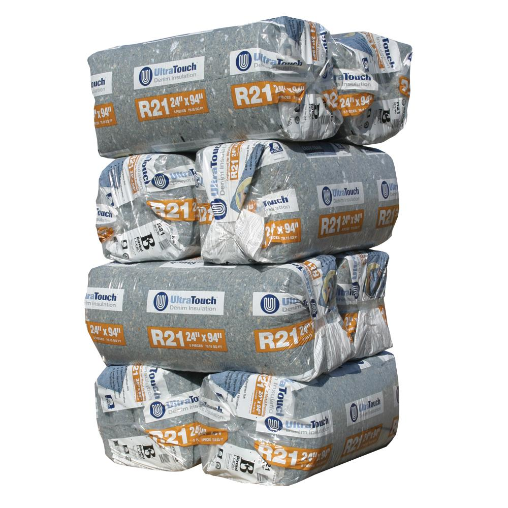 UltraTouch R-21 Denim Insulation Batts 24.25 in. x 94 in. (8-Bags)