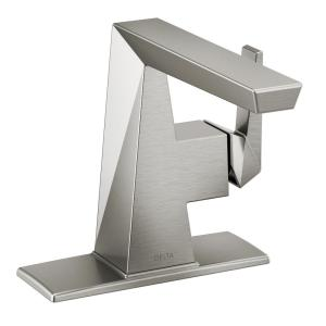 Trillian Single Hole Single-Handle Bathroom Faucet in Stainless (Less Pop-Up Assembly)