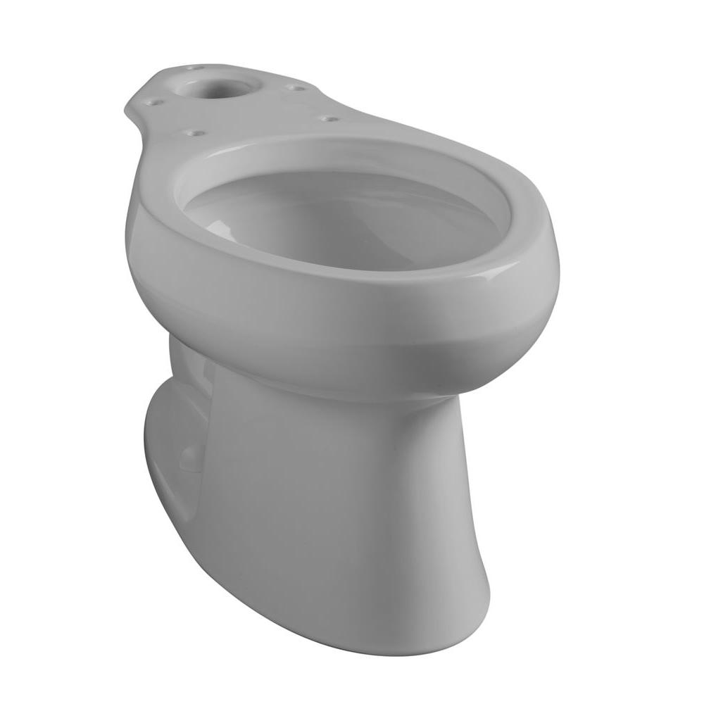 KOHLER Wellworth Elongated Toilet Bowl Only in Ice Grey