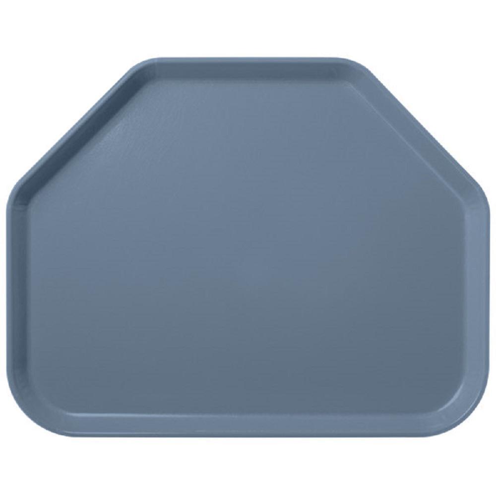 Glasteel 22 in. x 14.1 in. Slate Blue Fiberglass Solid Trapezoid Tray (12-Pack)