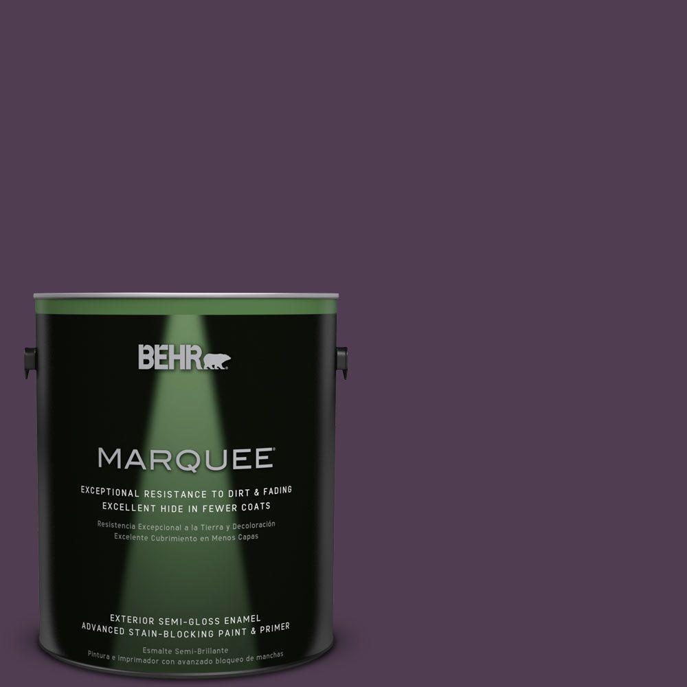 BEHR MARQUEE 1-gal. #S-H-690 Interlude Semi-Gloss Enamel Exterior Paint, Purples/Lavenders