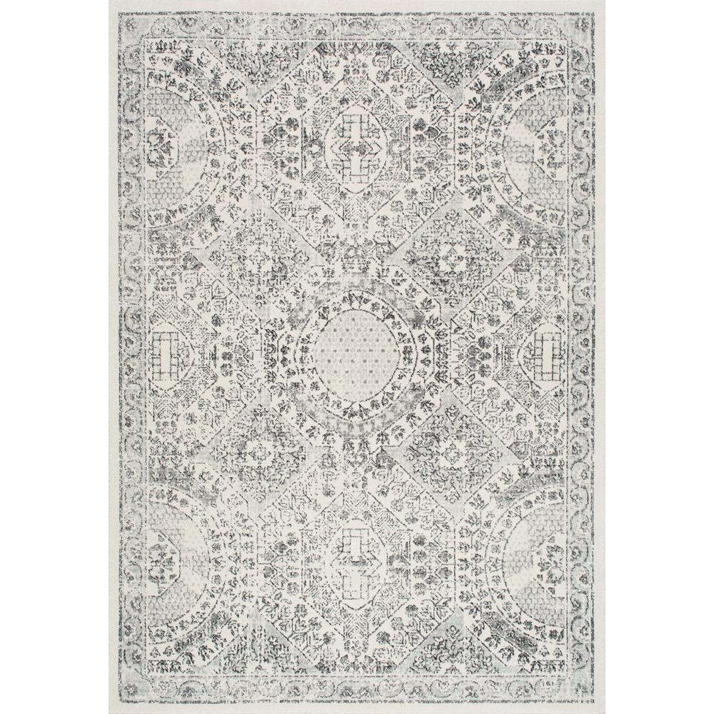 Nuloom Minta Modern Persian Gray 5 Ft X 8 Ft Area Rug