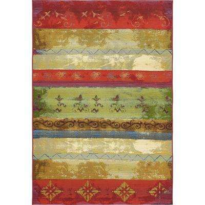 Outdoor Traditional Multi 5' 3 x 8' 0 Area Rug