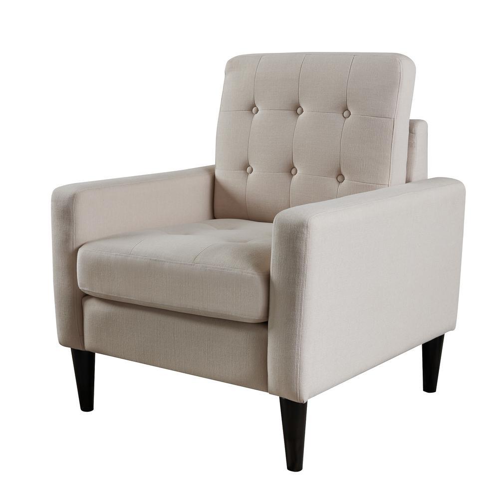 LOKATSE Cream Beige Upholstery Arm Chair AC18803W