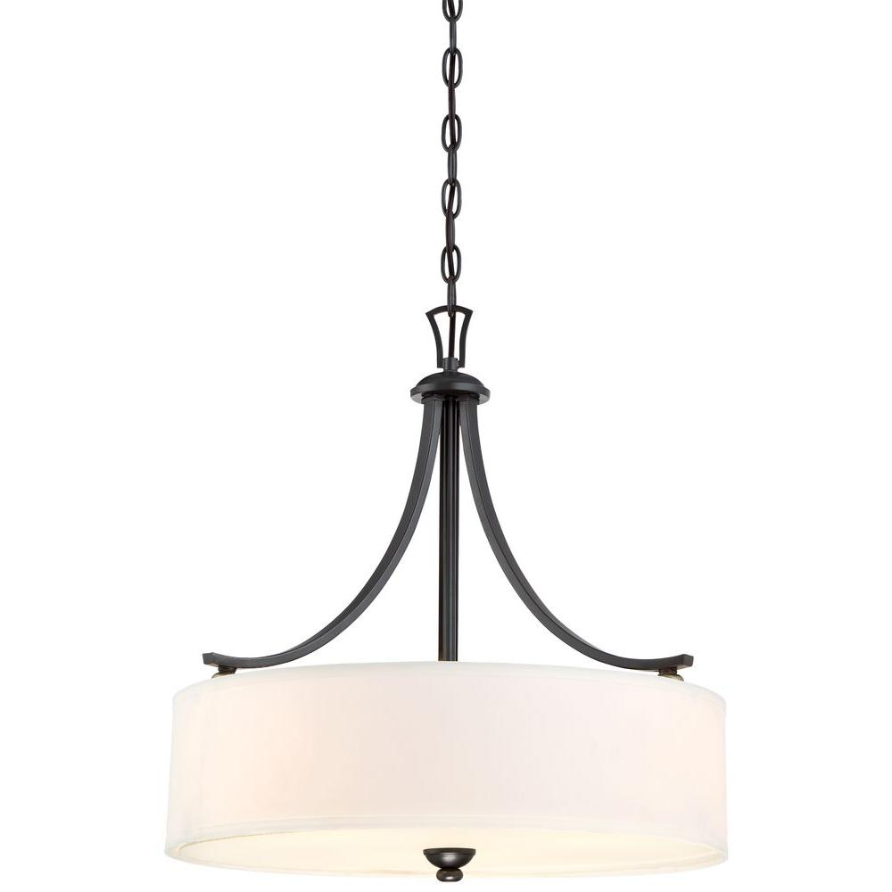 drum pendant lighting commercial minka lavery shadowglen 3light lathan bronze drum pendant pendant3287589