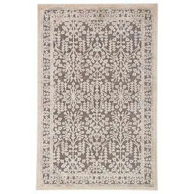 Fables Brown 7 ft. 6 In. x 9 ft. 6 In. Floral Rectangle Rug