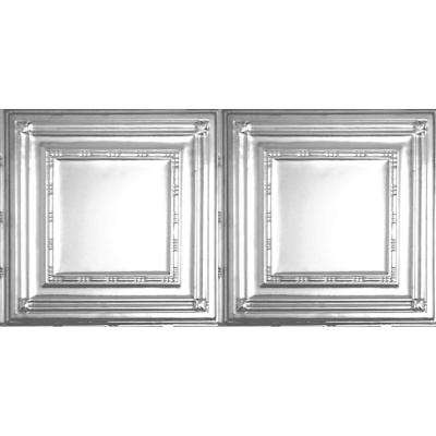 2 ft. x 4 ft. Nail-up/Direct Application Ceiling Tile in Brite Chrome (24 sq. ft. / case)