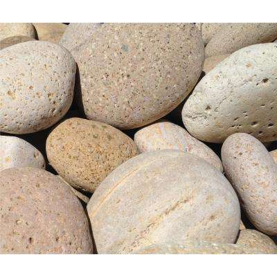 8 in. to 10 in. Buff Melon Mexican Beach Pebble (2200 lb. Contractor Super Sack)