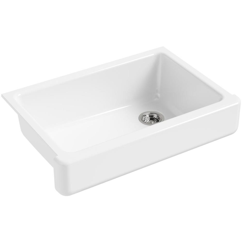 Whitehaven Farmhouse Apron-Front Cast Iron 33 in. Single Bowl Kitchen Sink