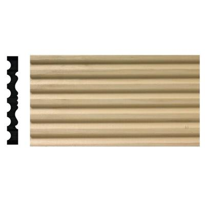 3/4 in. x 6 in. x 84 in. White Hardwood Fluted/Victorian Casing Moulding