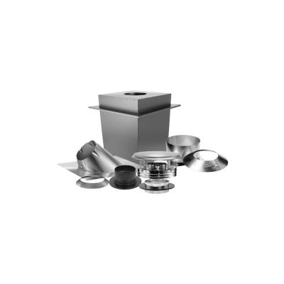 DuraPlus 6 in. Triple-Wall Basic Through-The-Ceiling Chimney Stove Pipe Vent Kit