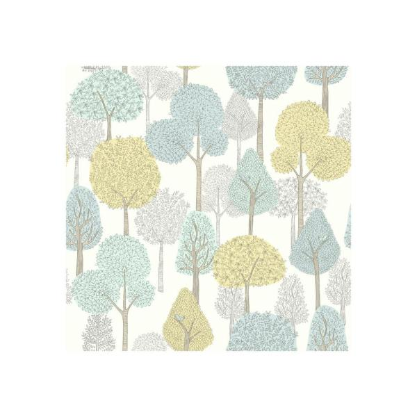 York Wallcoverings DwellStudio Baby and Kids Treetops Wallpaper