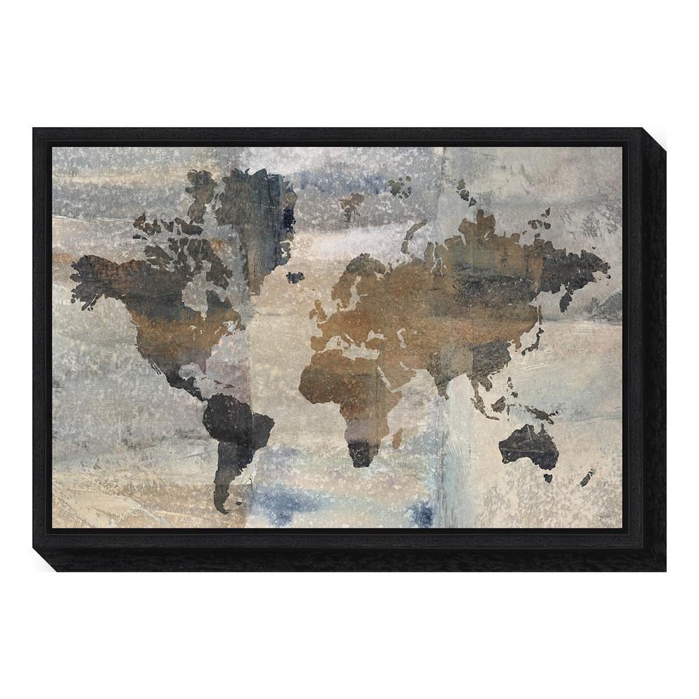 Amanti art stone world map by avery tillmon framed canvas wall amanti art stone world map by avery tillmon framed canvas gumiabroncs Image collections