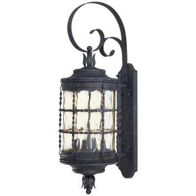 Mallorca 4-Light Spanish Iron Outdoor Wall Lantern Sconce