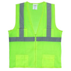 Cordova 4X-Large Lime Green High Visibility Class 2 Reflective Safety Vest by Cordova