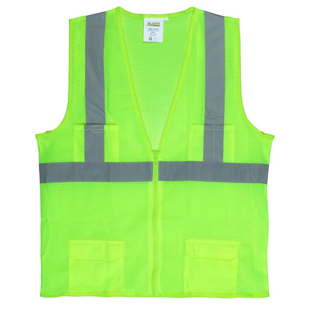 0782b0598639 Cordova Large Lime Green High Visibility Class 2 Reflective Safety Vest