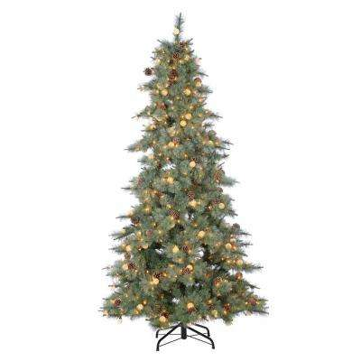 7.5 ft. Pre-Lit Hard Mixed Needle Arcadia Fir Artificial Christmas Tree
