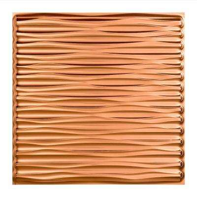 Dunes - 2 ft. x 2 ft. Vinyl Lay-In Ceiling Tile in Polished Copper