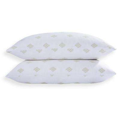 Bamboo Fusion White Duck Nano Feather Jumbo Pillow (Set of 2)