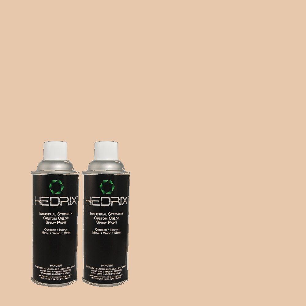 Hedrix 11 oz. Match of C40-36 Colonial Beige Semi-Gloss Custom Spray Paint (2-Pack)