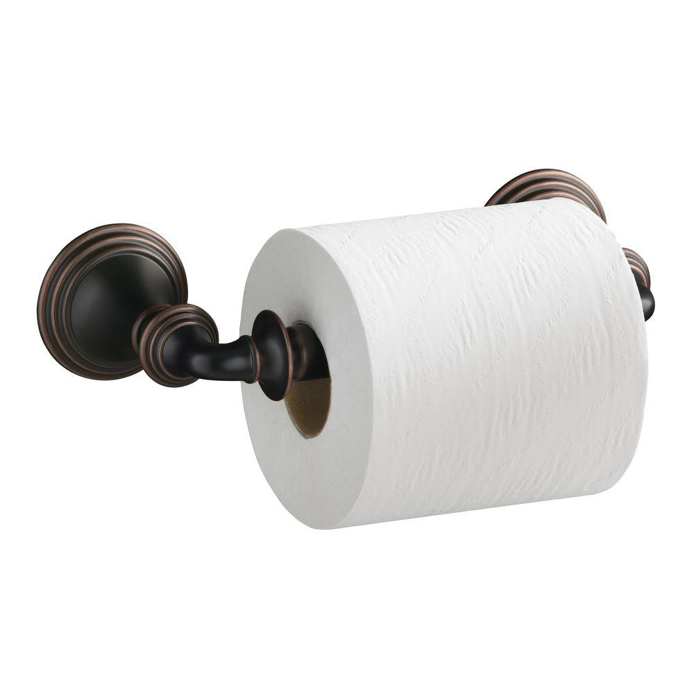 kohler devonshire double post toilet paper holder in oil rubbed bronze